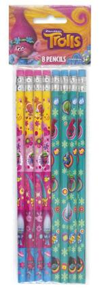 Trolls Pencils 8ct - TROLLS - Party Supplies - America Likes To Party