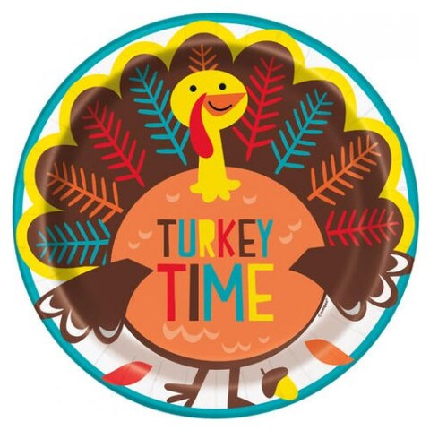 Cartoon Turkey Dinner Plates