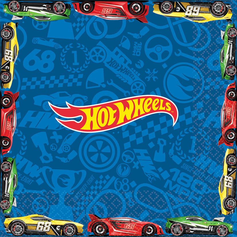 Hot Wheels Lunch Napkins 16ct - *HOT WHEELS - Party Supplies - America Likes To Party