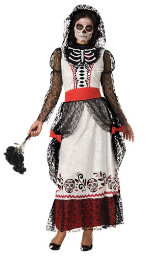Adult Skeleton Bride Costume - ADULT FEMALE - Halloween & Party Costumes - America Likes To Party