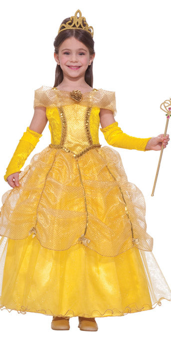 Child Golden Princess Costume - GIRLS - Halloween & Party Costumes - America Likes To Party