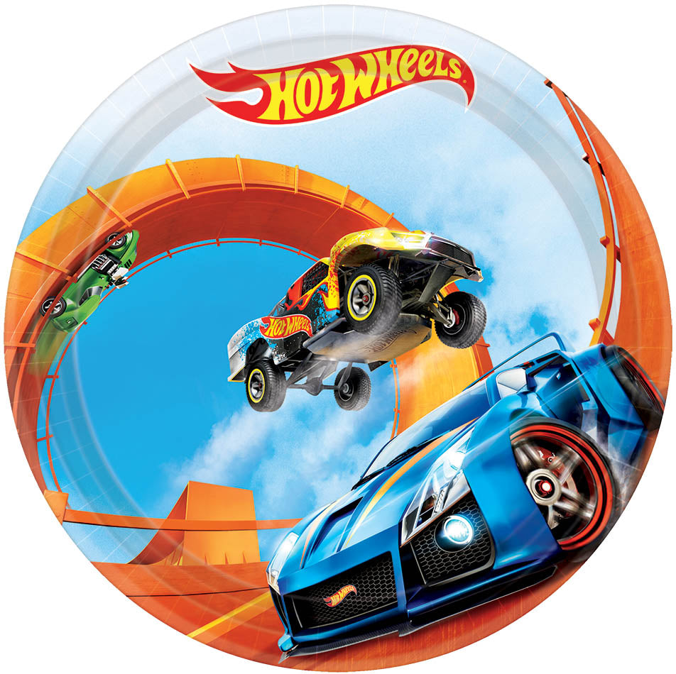 Hot Wheels Dessert Plates 8ct - *HOT WHEELS - Party Supplies - America Likes To Party
