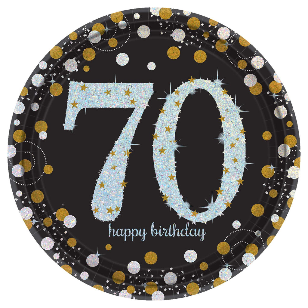 70th Sparkling Celebration Lunch Plates