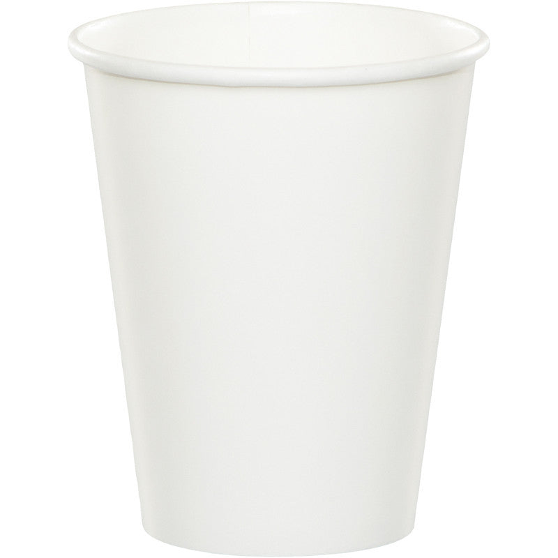 Frosty White 9oz Paper Cups 20ct - WHITE .08 - Party Supplies - America Likes To Party