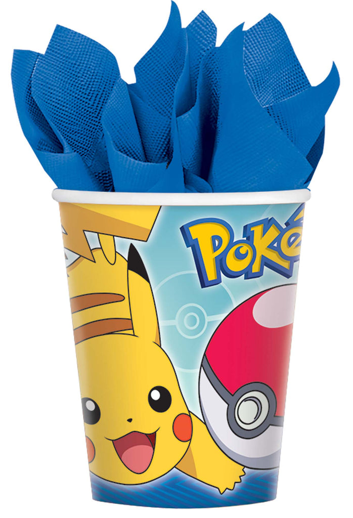 Pokemon 9oz Paper Cups 8ct - POKEMON - Party Supplies - America Likes To Party