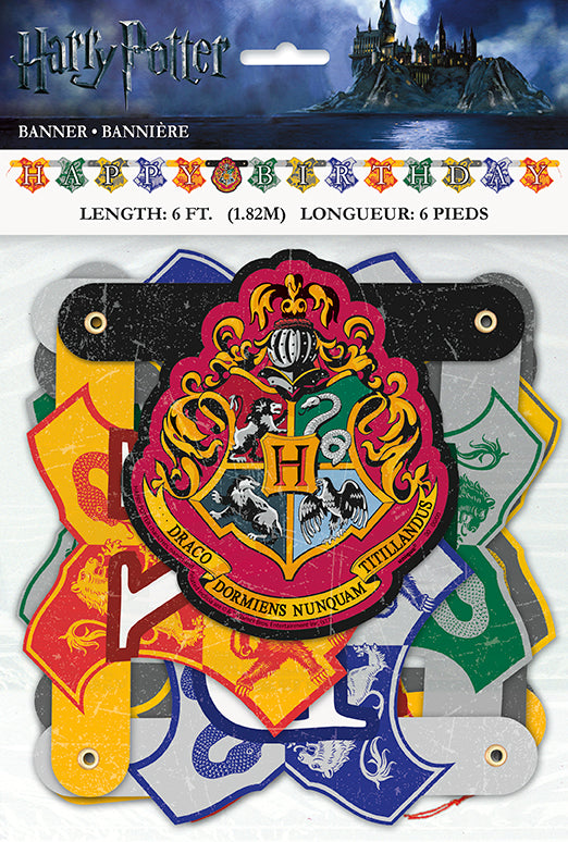 Harry Potter Happy Birthday Banner - HARRY POTTER - Party Supplies - America Likes To Party