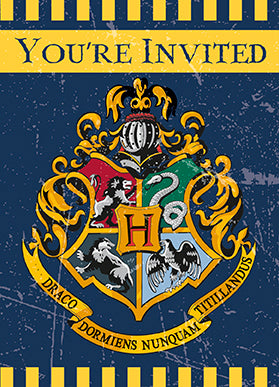 Harry Potter Invitations 8ct - HARRY POTTER - Party Supplies - America Likes To Party