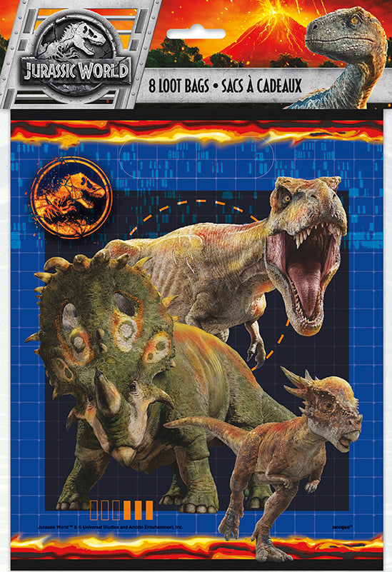 Jurassic World Loot Bags 8ct - JURAISSIC WORLD - Party Supplies - America Likes To Party