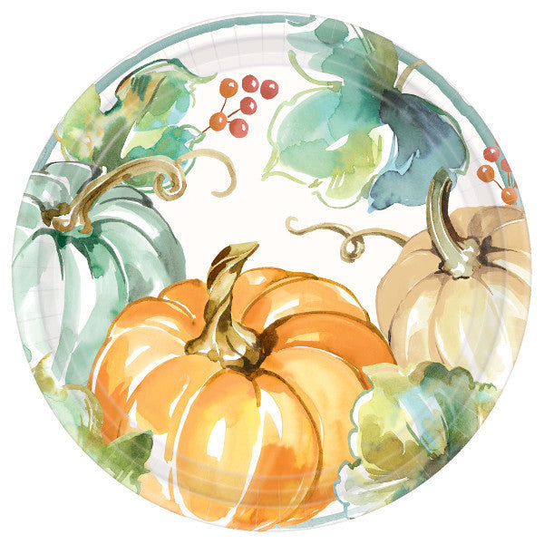 Muted Autumn Dinner Plates