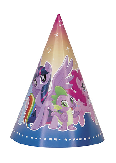 My Little Pony Cone Hats 8ct - MY LITTLE PONY - Party Supplies - America Likes To Party
