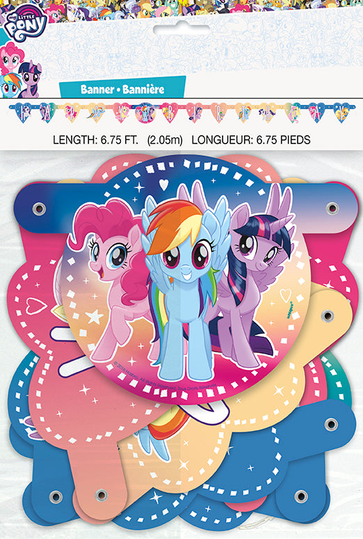 My Little Pony Birthday Banner - MY LITTLE PONY - Party Supplies - America Likes To Party