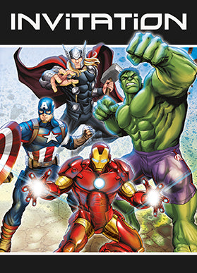 Avengers Invitations - Avengers - Party Supplies - America Likes To Party