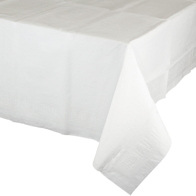 Frosty White Rectangular Paper Tablecover - WHITE .08 - Party Supplies - America Likes To Party