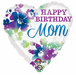 Happy Birthday Mom Watercolor Balloon