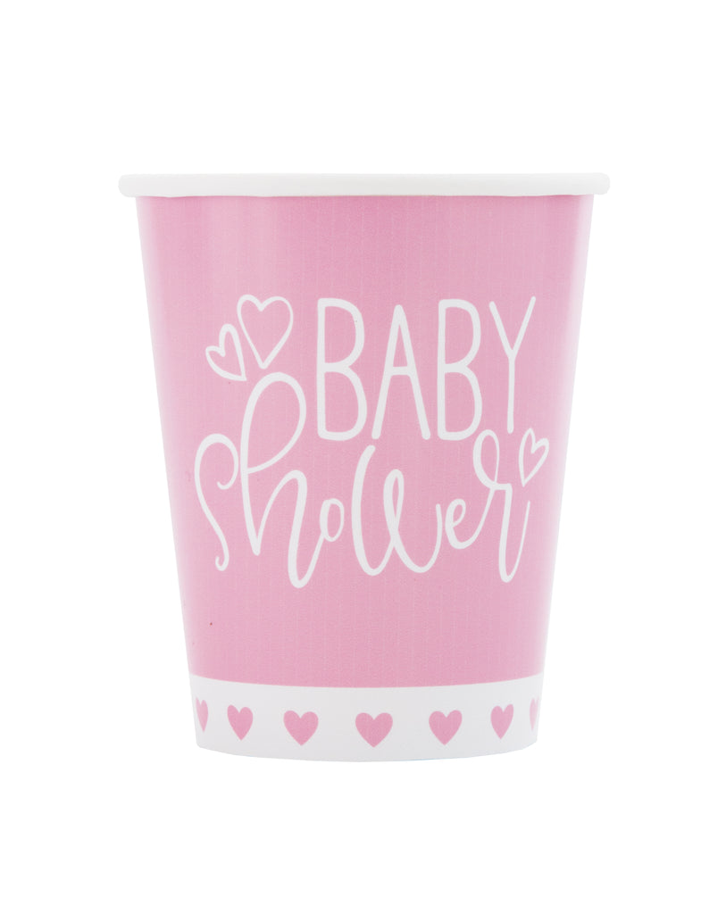 Pink Heart Baby Shower 9oz Paper Cup