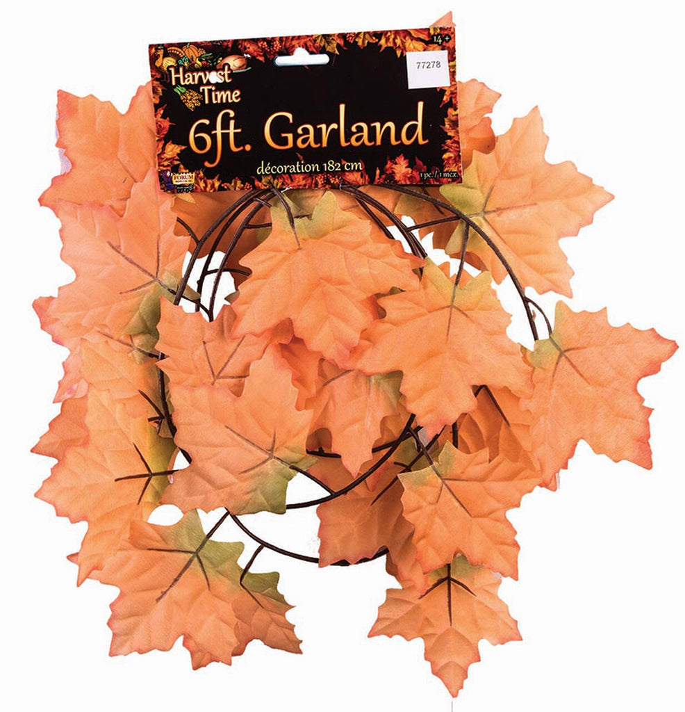 Fall Leaf Garland 6ft