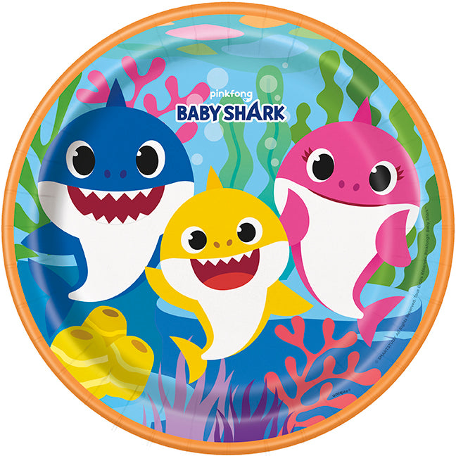 Baby Shark Lunch Plates