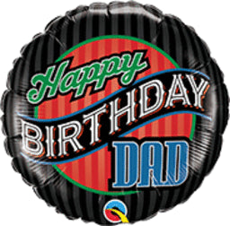 Happy Birthday Dad Stripes Balloon