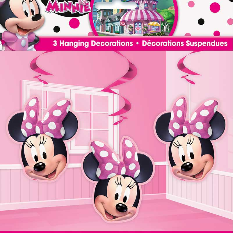 Minnie Mouse Hanging Swirl Decorations