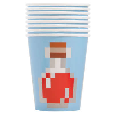 Minecraft 9oz Paper Cups