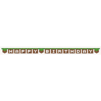 Minecraft Birthday Banner