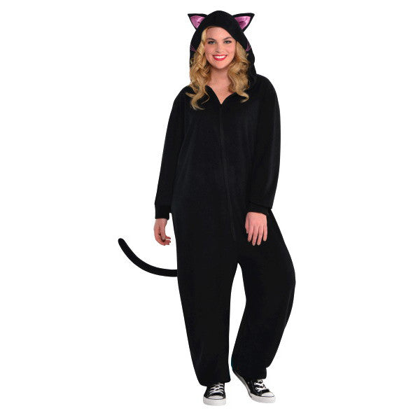 Adult Black Cat Zipster Costume #380