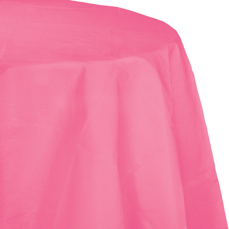 Bright Pink Flannel-Backed Vinyl Oblong Tablecover - PINK BRIGHT .103 - Party Supplies - America Likes To Party