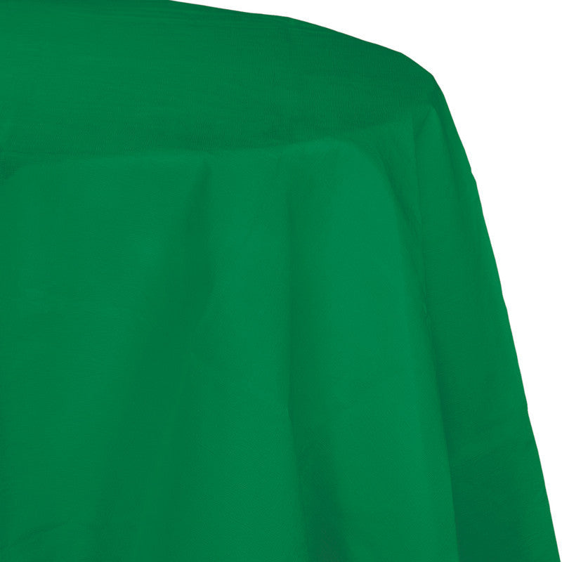 Festive Green Flannel-Backed Vinyl Oblong Tablecover - GREEN FESTIVE .03 - Party Supplies - America Likes To Party