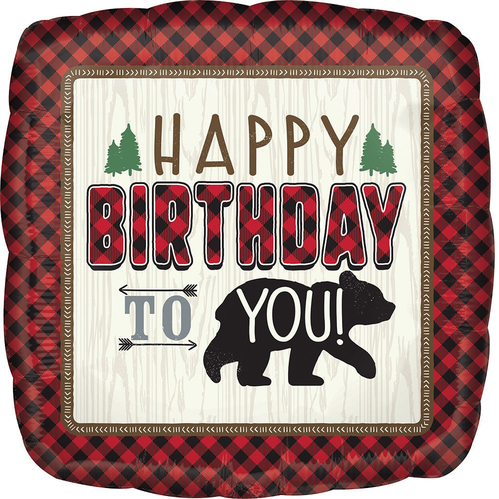 Happy Birthday Lumberjack Balloon