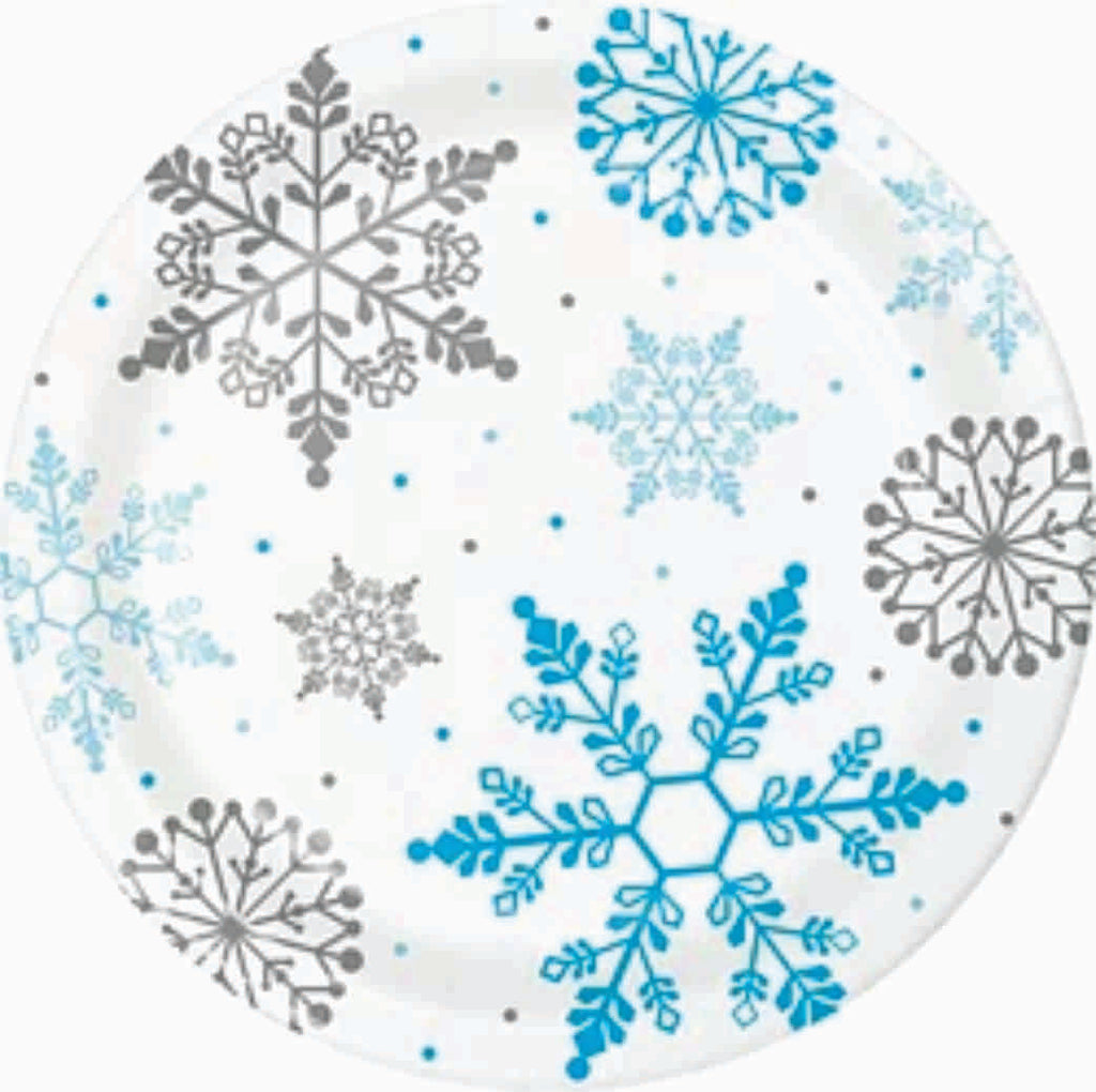 Winter Snowflakes Lunch Plates