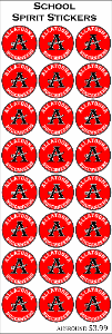 Allatoona High School Round Stickers 24ct