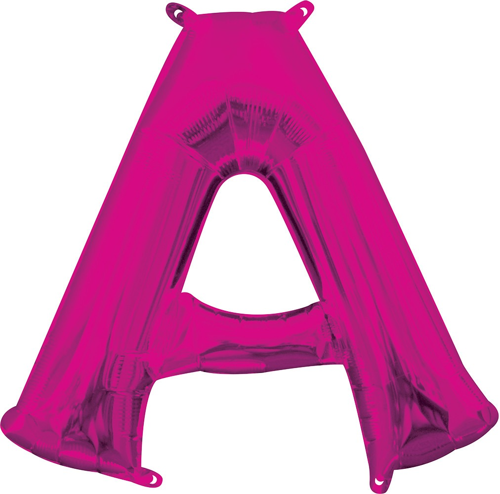 Air Filled Magenta Letter A Balloon