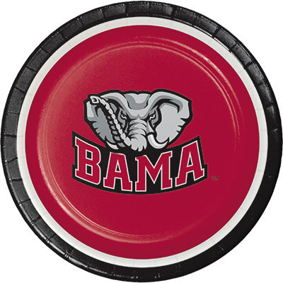 Alabama Dessert Plates 8ct - COLLEGE SPORTS - Party Supplies - America Likes To Party