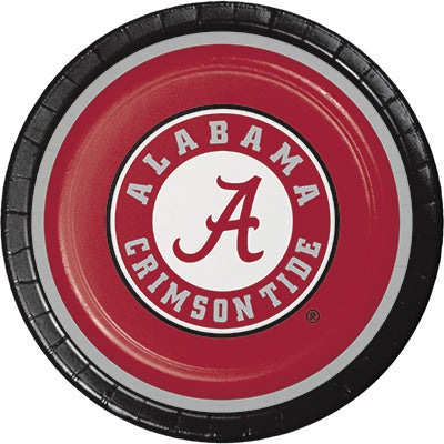 Alabama Lunch Plates 8ct - COLLEGE SPORTS - Party Supplies - America Likes To Party