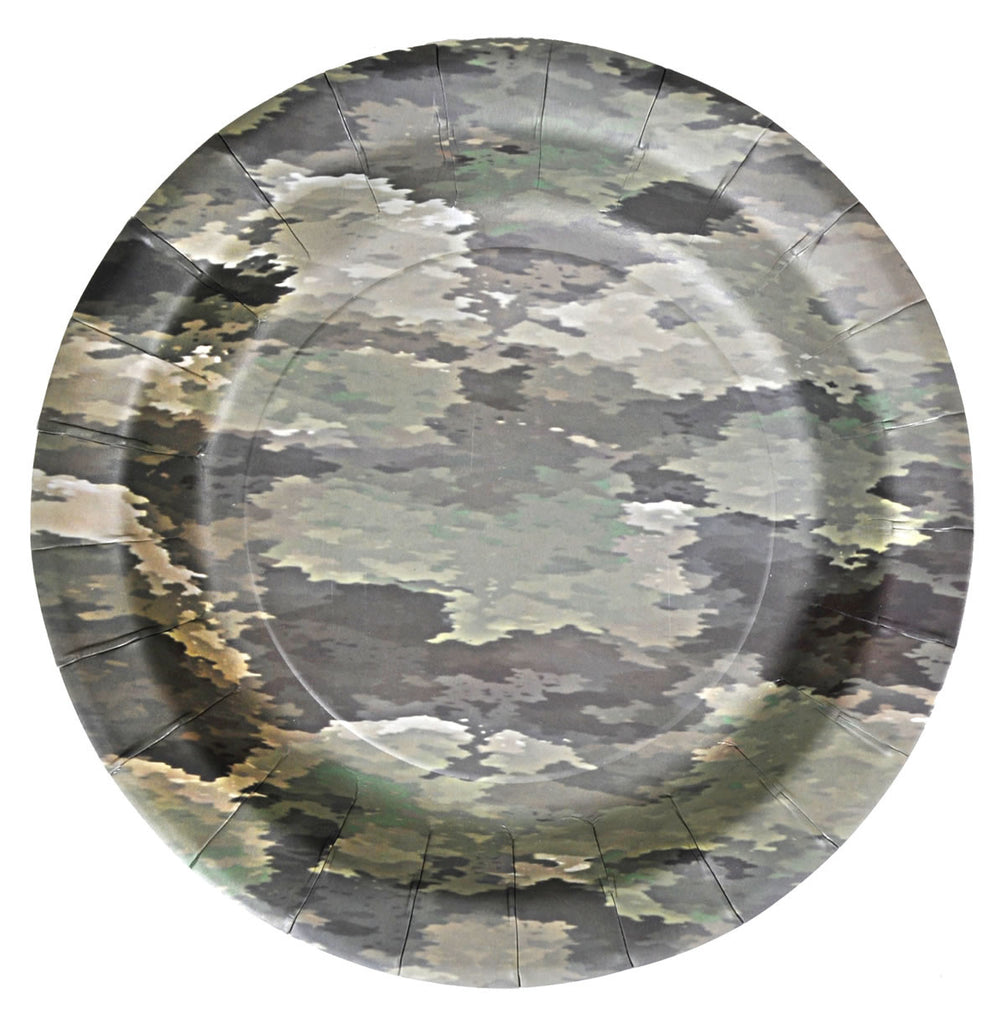American Heroes Dessert Plates 8ct - MOSSY OAK - Party Supplies - America Likes To Party