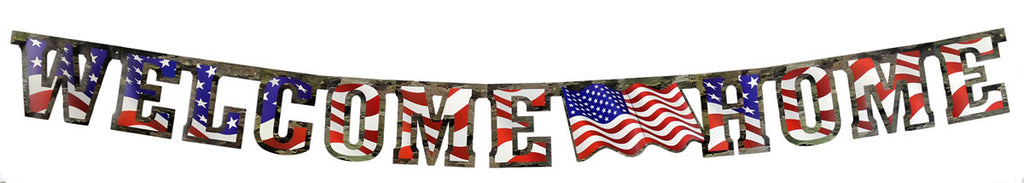 American Heroes Welcome Home Banner - MOSSY OAK - Party Supplies - America Likes To Party