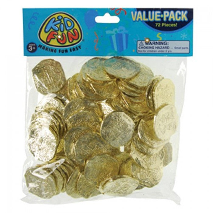 Ancient Pirate Coins 72ct - PACKAGED FAVORS - Party Supplies - America Likes To Party