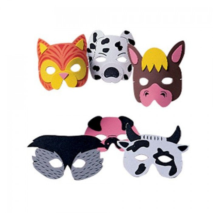 Farm Animal Foam Masks 12ct - PACKAGED FAVORS - Party Supplies - America Likes To Party