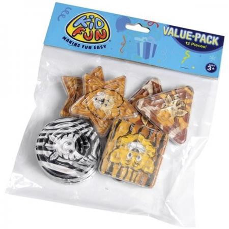 Animal Maze Puzzles 12ct - PACKAGED FAVORS - Party Supplies - America Likes To Party