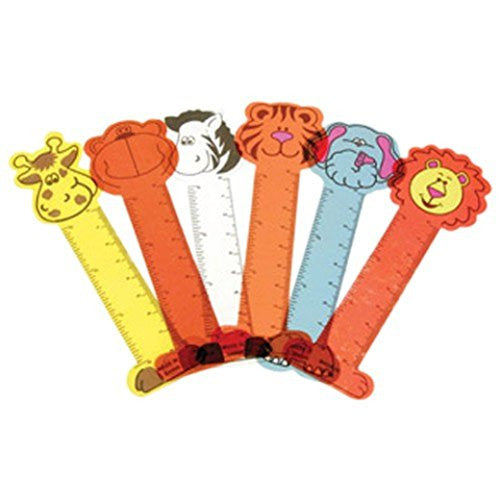 Animal Ruler Bookmarks 12ct - PACKAGED FAVORS - Party Supplies - America Likes To Party