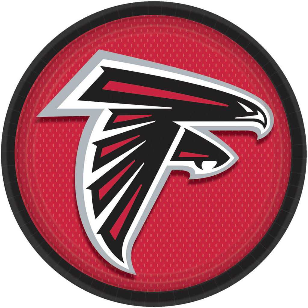 Atlanta Falcons Lunch Plates 8ct - NFL - Party Supplies - America Likes To Party