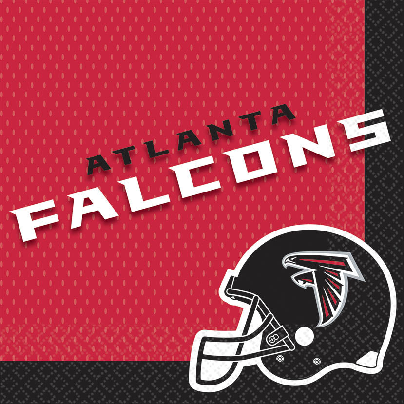 Atlanta Falcons Lunch Napkins 16ct - NFL - Party Supplies - America Likes To Party