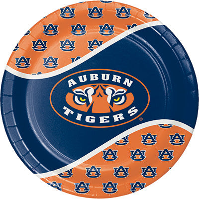 Auburn Lunch Plates 8ct - COLLEGE SPORTS - Party Supplies - America Likes To Party