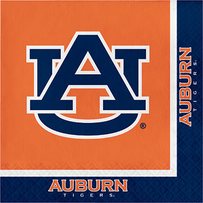 Auburn Lunch Napkins 20ct - COLLEGE SPORTS - Party Supplies - America Likes To Party