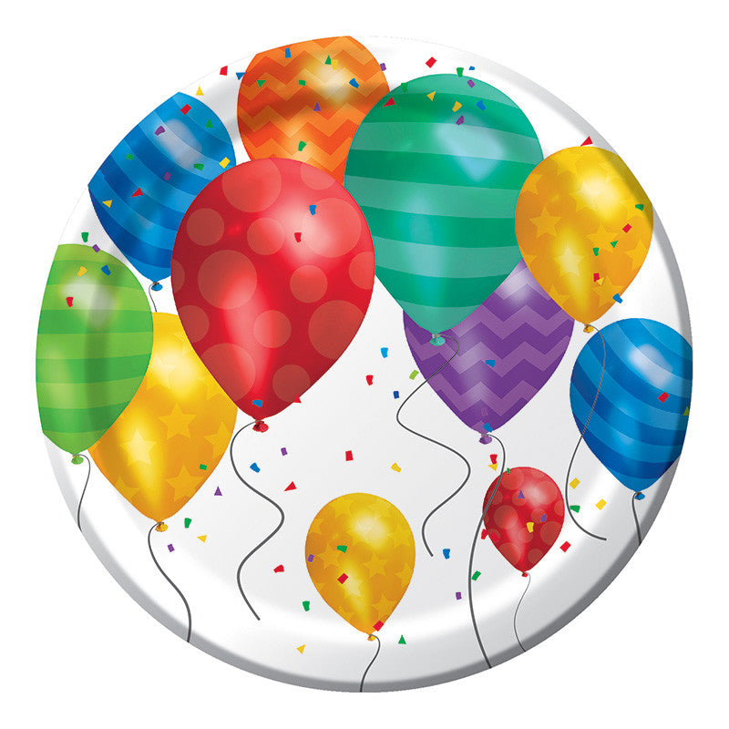 Balloon Blast Dessert Plates - CELEBRATE-BALLOON BLAST - Party Supplies - America Likes To Party