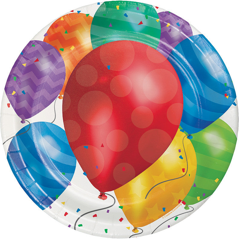 Balloon Blast Lunch Plates - CELEBRATE-BALLOON BLAST - Party Supplies - America Likes To Party