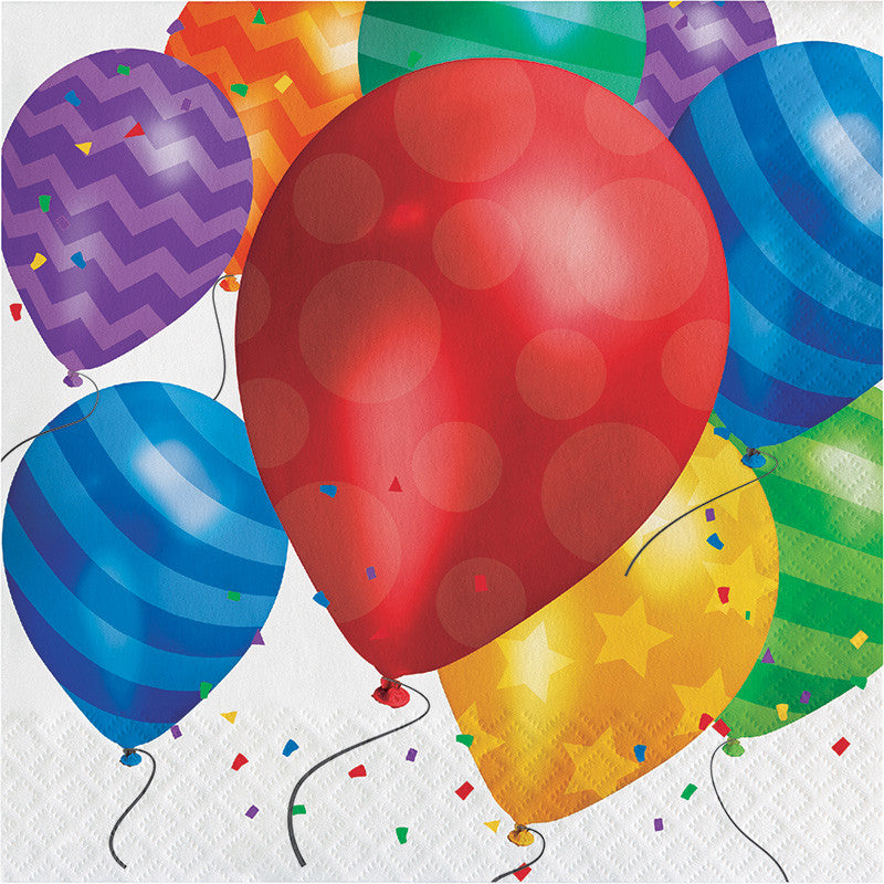 Balloon Blast Beverage Napkins - CELEBRATE-BALLOON BLAST - Party Supplies - America Likes To Party
