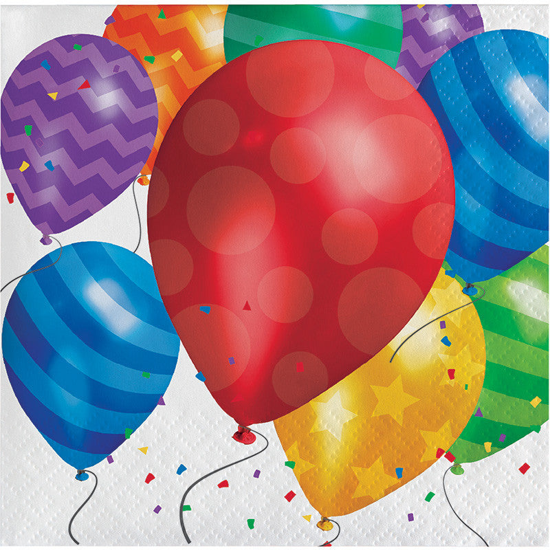 Balloon Blast Lunch Napkins - CELEBRATE-BALLOON BLAST - Party Supplies - America Likes To Party