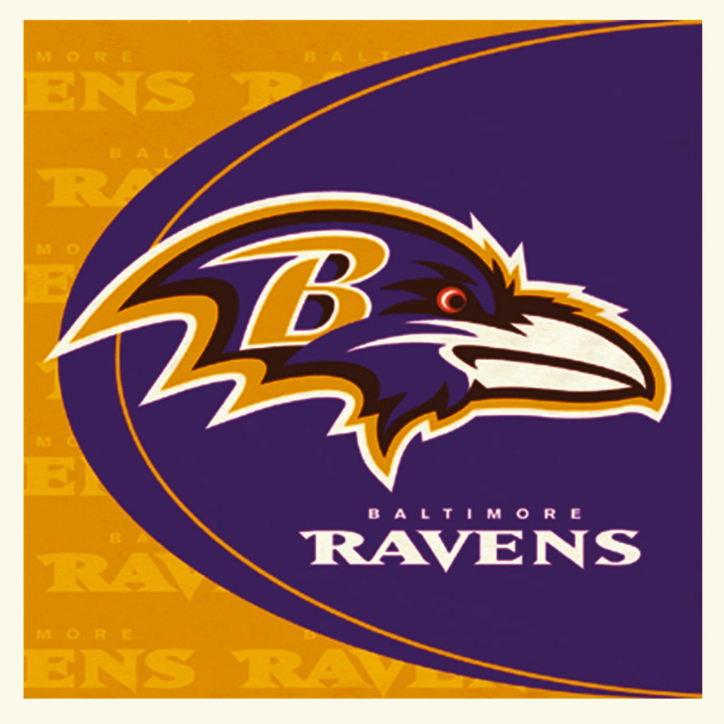 Baltimore Ravens Lunch Napkins 16ct - NFL - Party Supplies - America Likes To Party