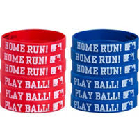 MLB Wristbands 12ct - BASEBALL/SOFTBALL - Party Supplies - America Likes To Party